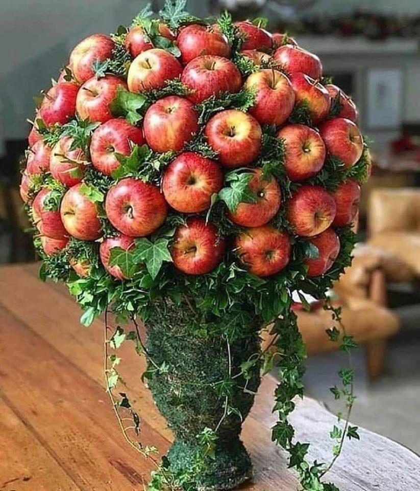 картинки букет из яблок несколько