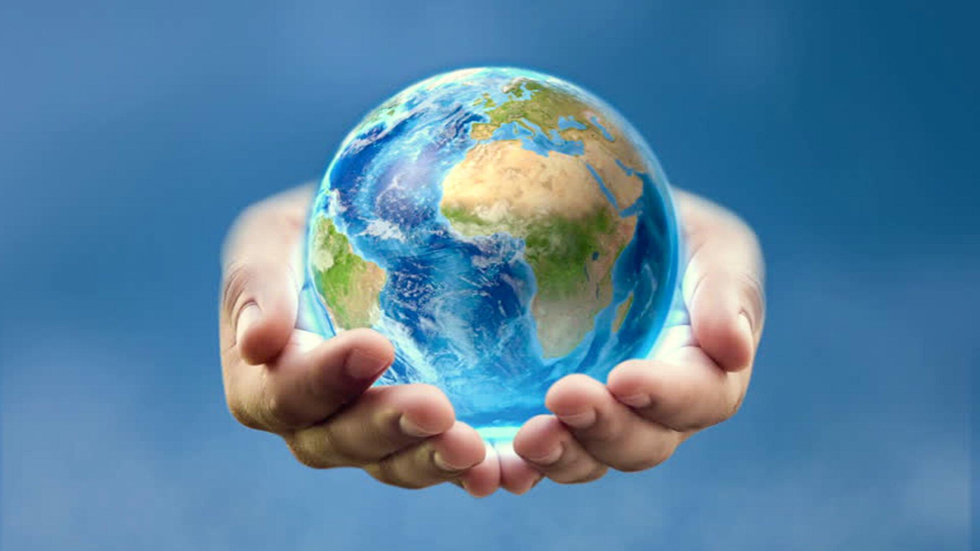 Картинки с планетой земля в руках
