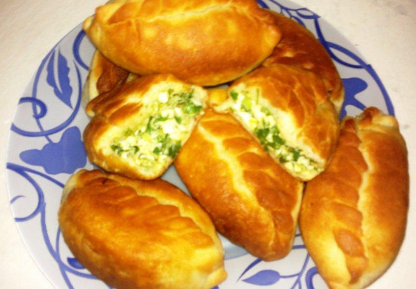 Жареные пирожки яйцом рецепт фото