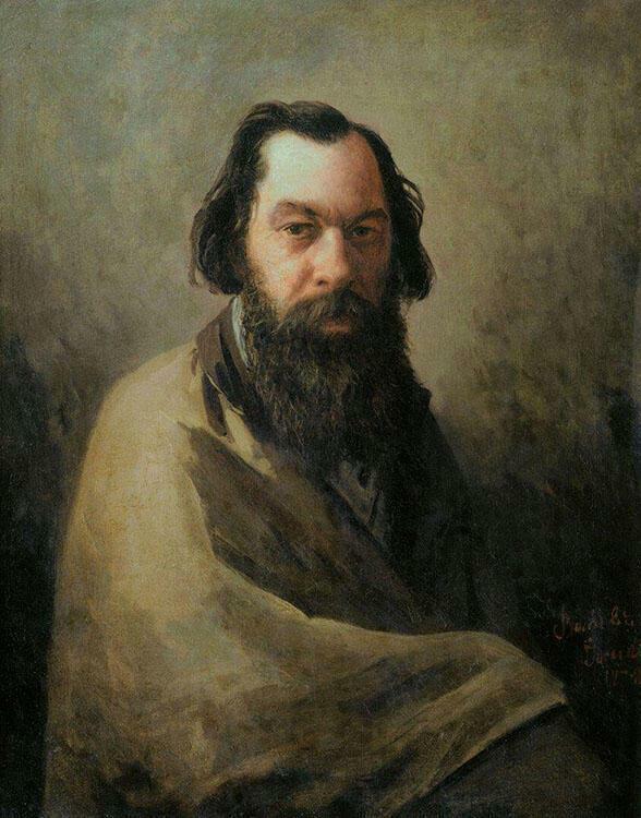 А.К. Саврасов. Портрет 1884 г. Художник И.П. Волков