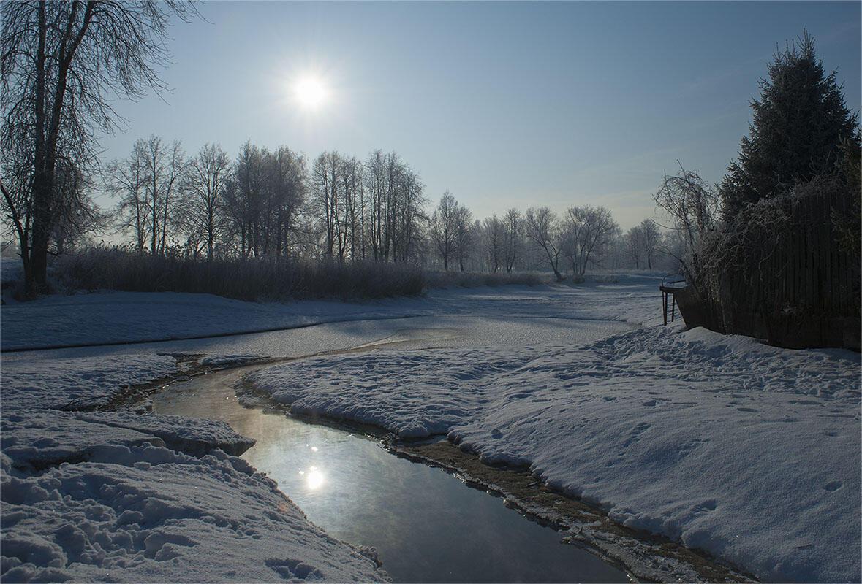 На студёной зимней речке
