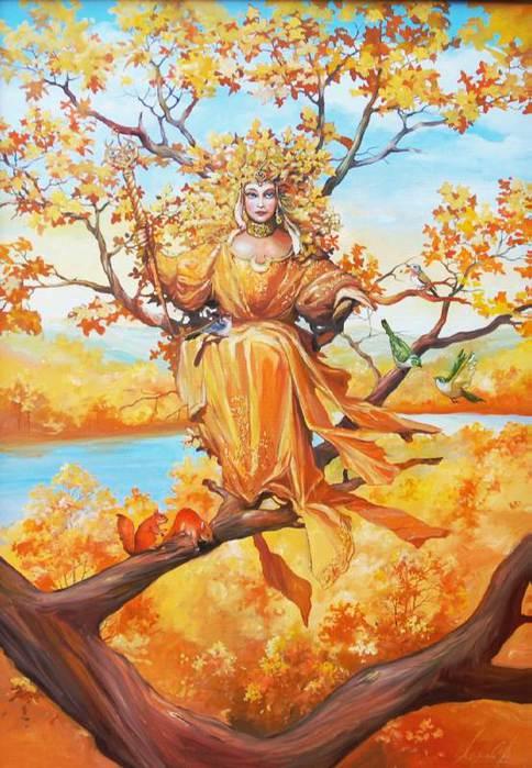 Ретриверами, картинка королева осень для детей
