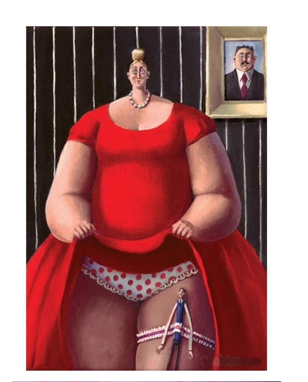 Дама толстая
