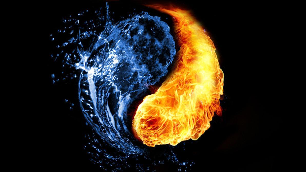 картинки для рабочего стола огонь и вода пара соседних атомов