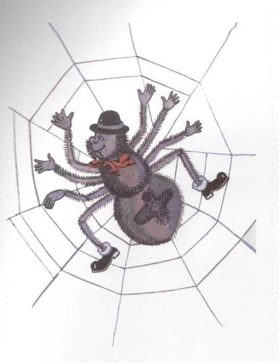 Паук и мухи в картинках