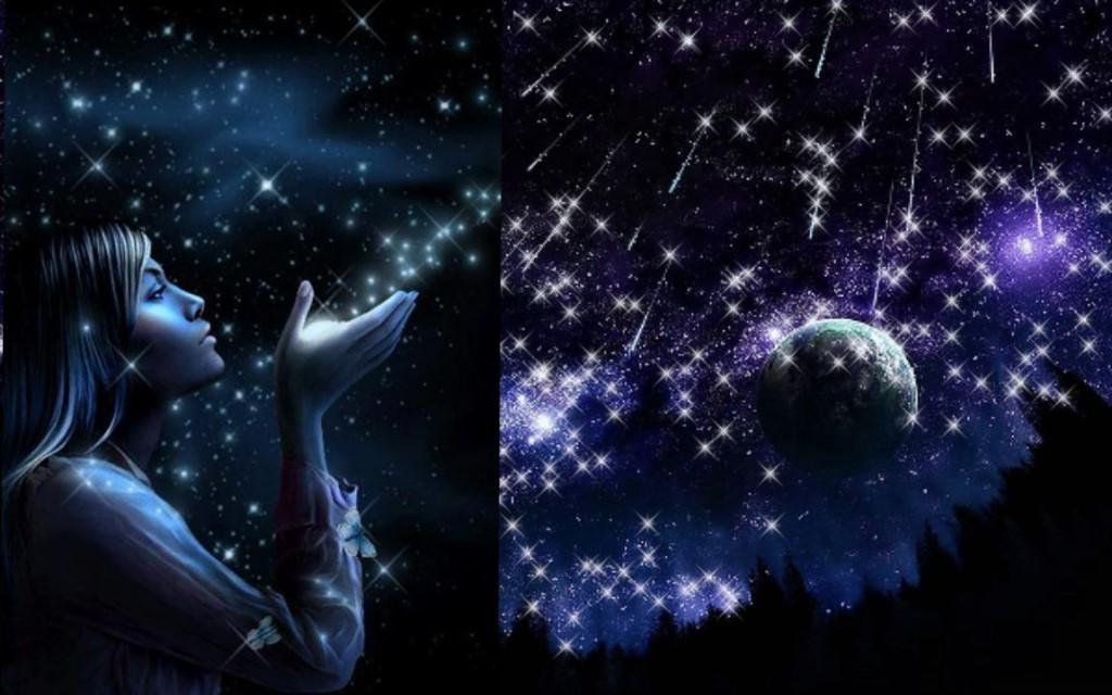 Красивые открытки звездопад, воскресенье анимация