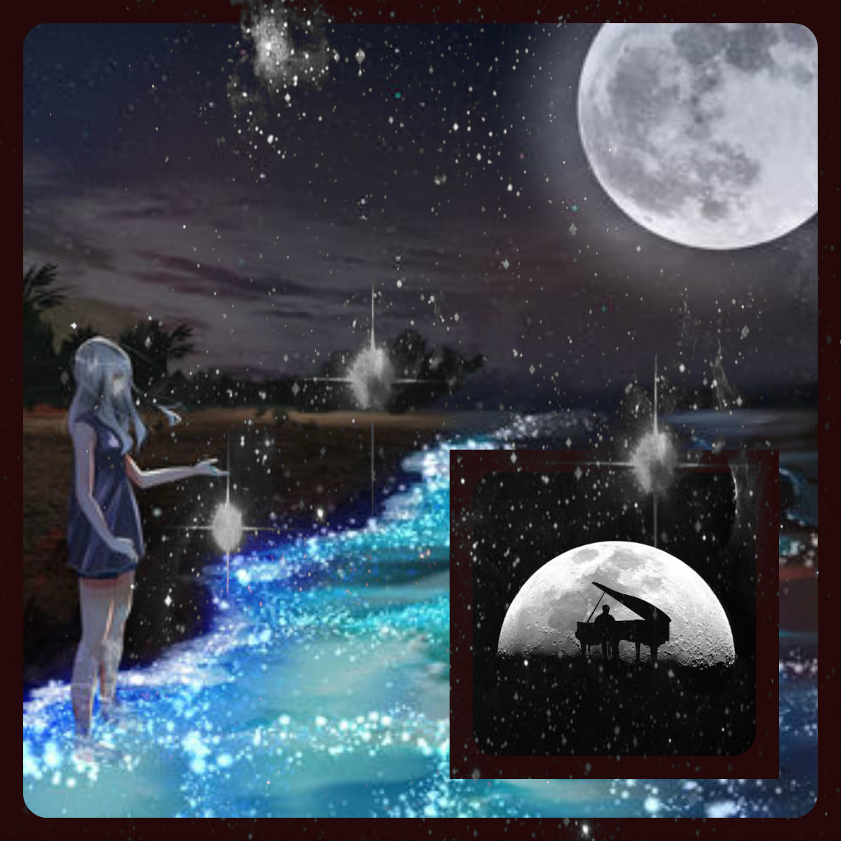 картинки звездопада или луны меню шато