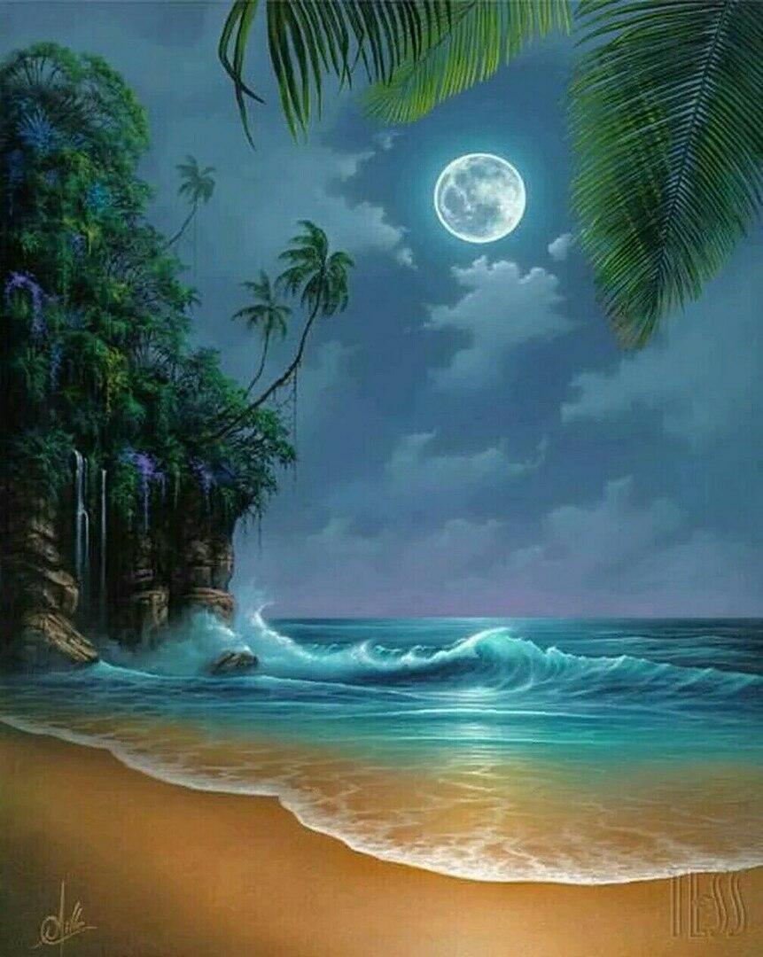 анимационные открытки с видом на море