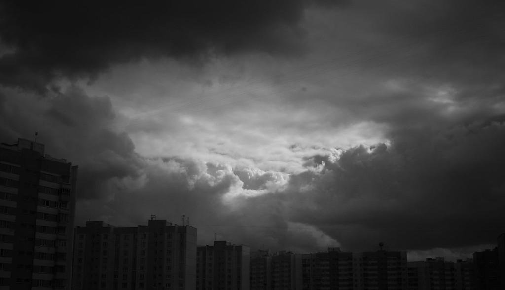 Сегодня небо стало пеплом