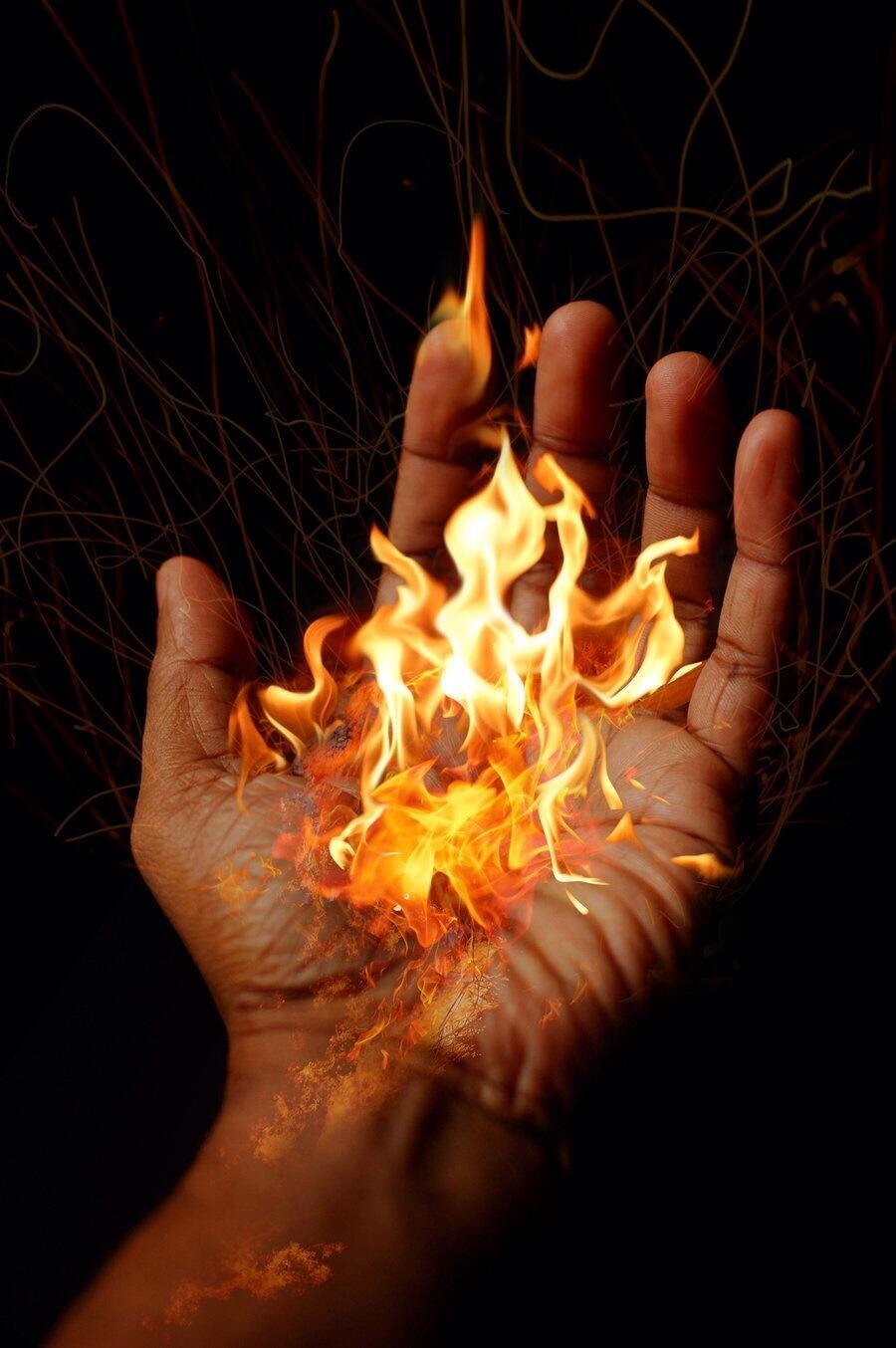 картинки огонь на теле новую плитку
