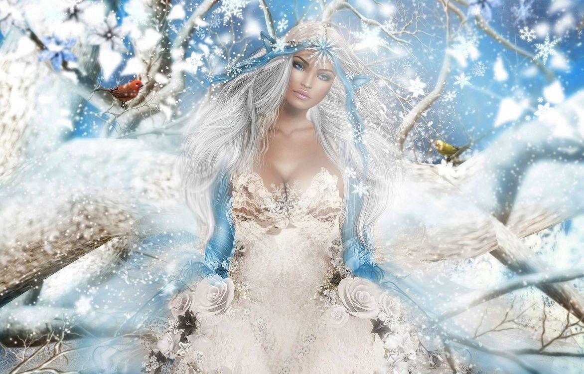 Девушка зима картинки сказочные, крещением детей