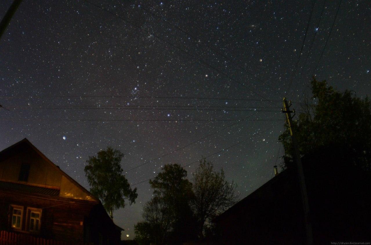 звездное небо в деревне фото