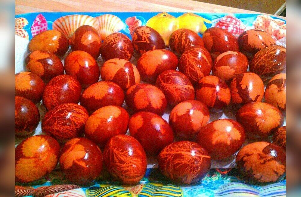 Покрасить яйца на Пасху