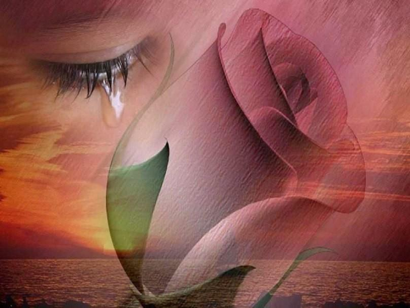Открытка плачущего