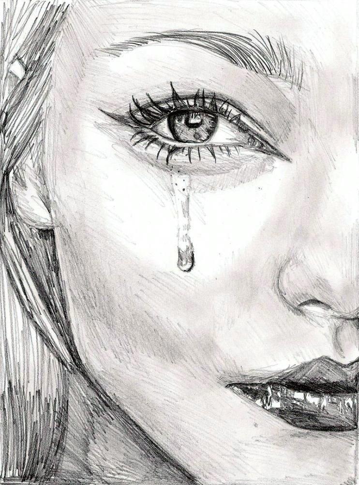 Рисунок на тему слезы