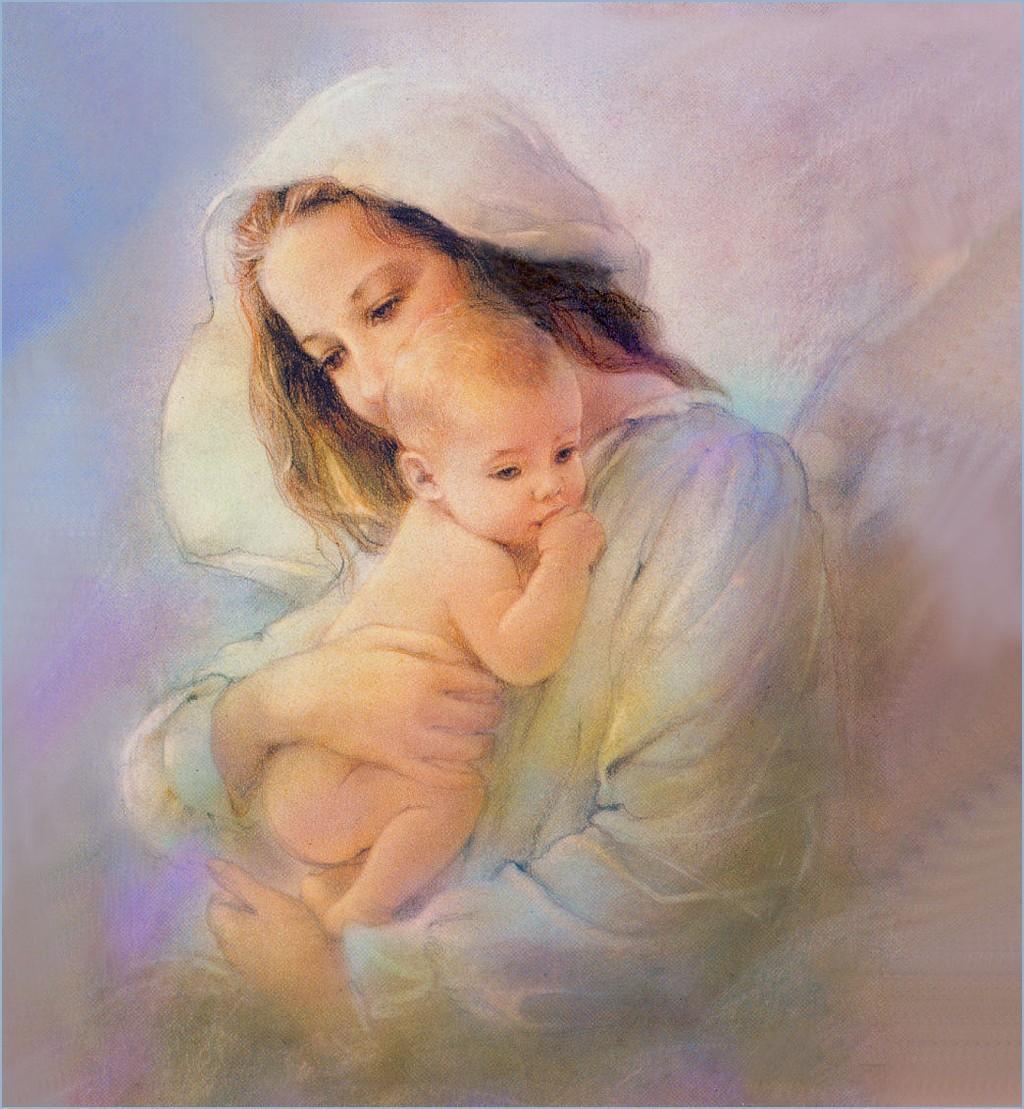 Фото открытки мама с младенцем