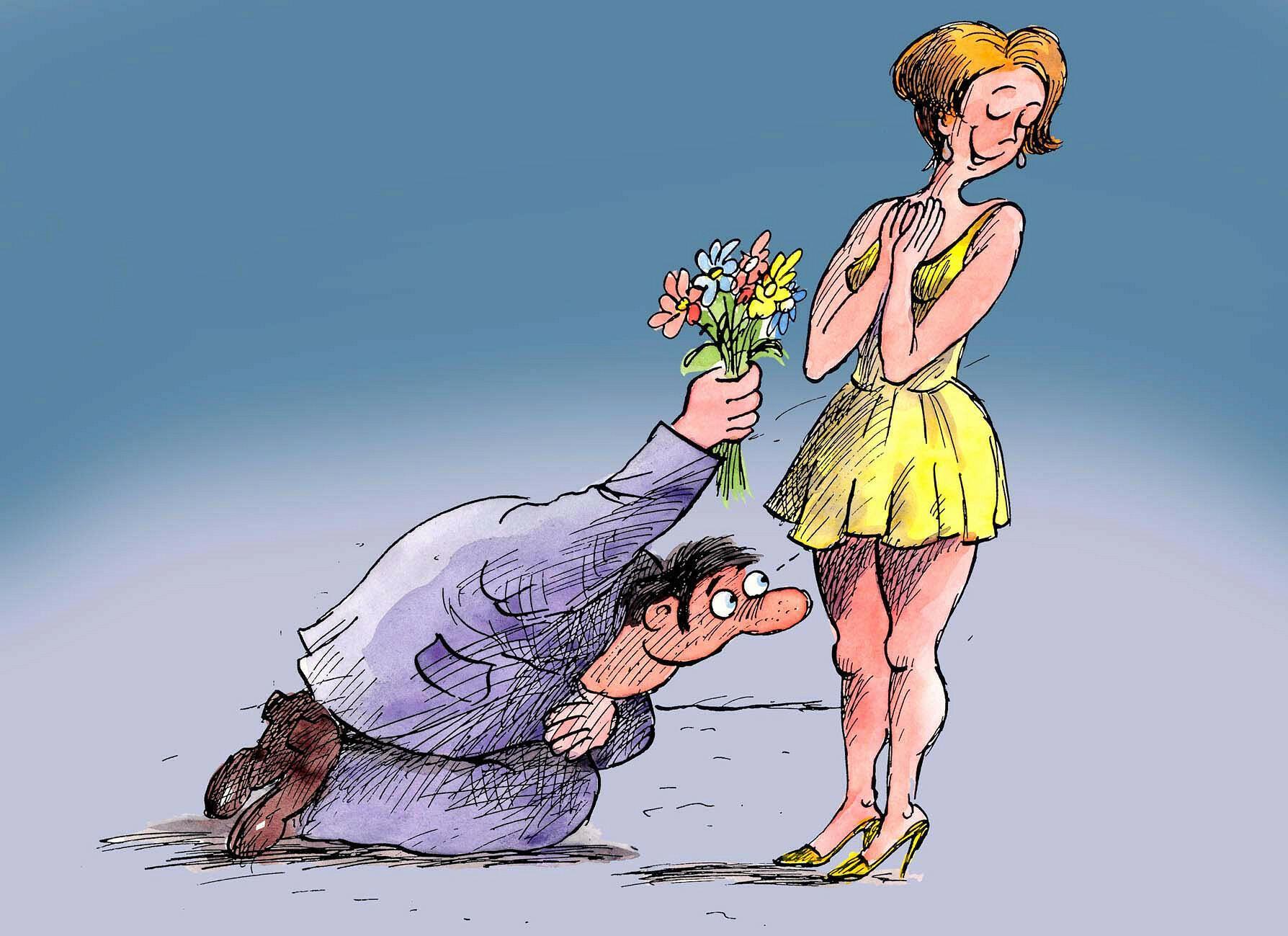 Подарил цветы и кунилингус на 8 марта