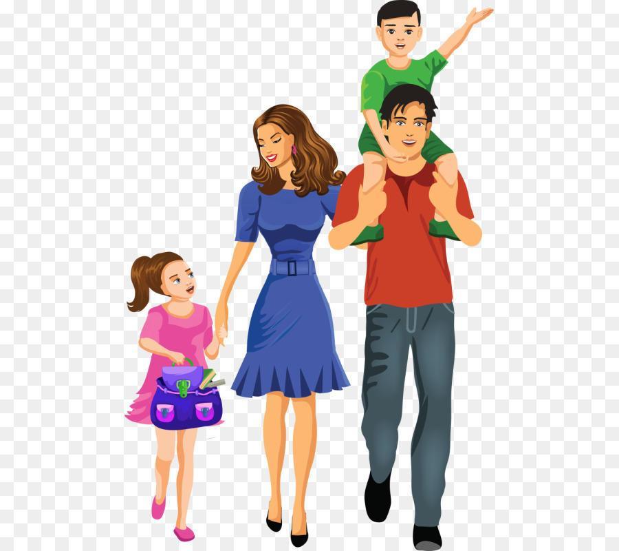 Картинки семья с детьми мультяшные