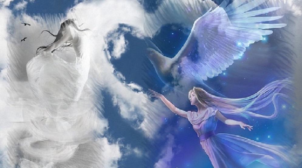 Открытка на крыльях счастья