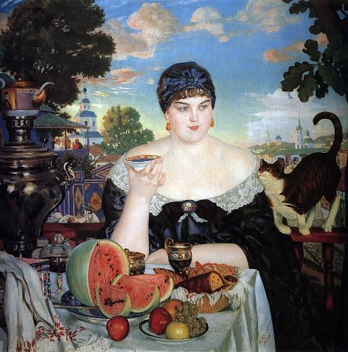 Купчиха за чаем ( по картине Б.М. Кустодиева, конкурсное)
