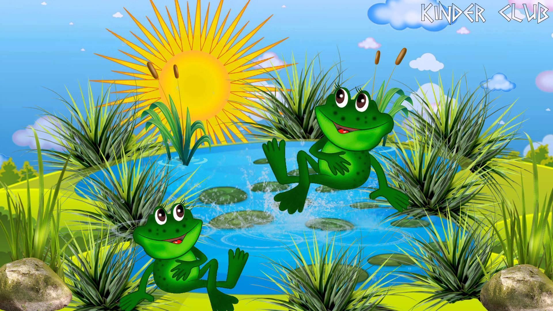 Картинка анимация лягушки на болоте