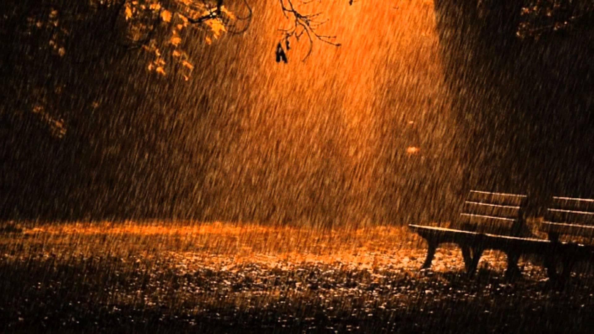 гифка дождь вечером такого