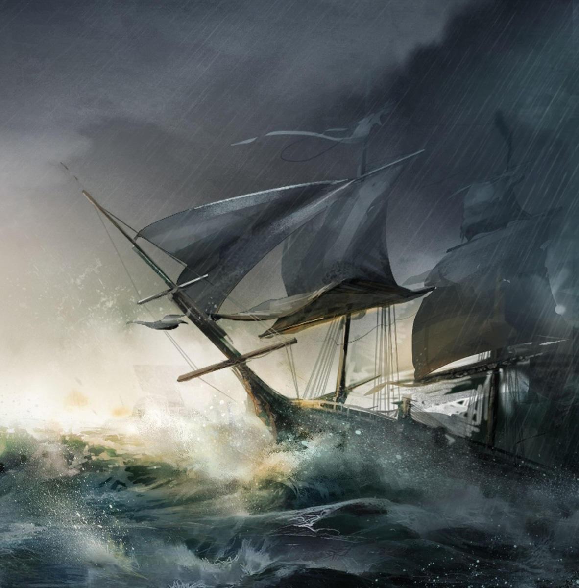 сигарет картинка парусник во время шторма рисунки огромных невероятно