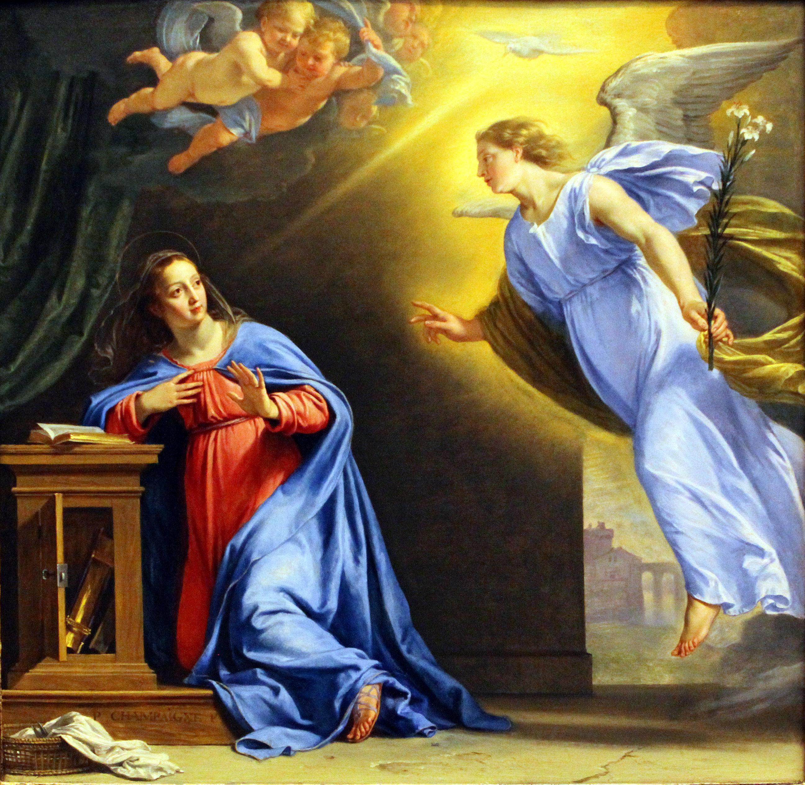 Благовещение для Девы Марии.