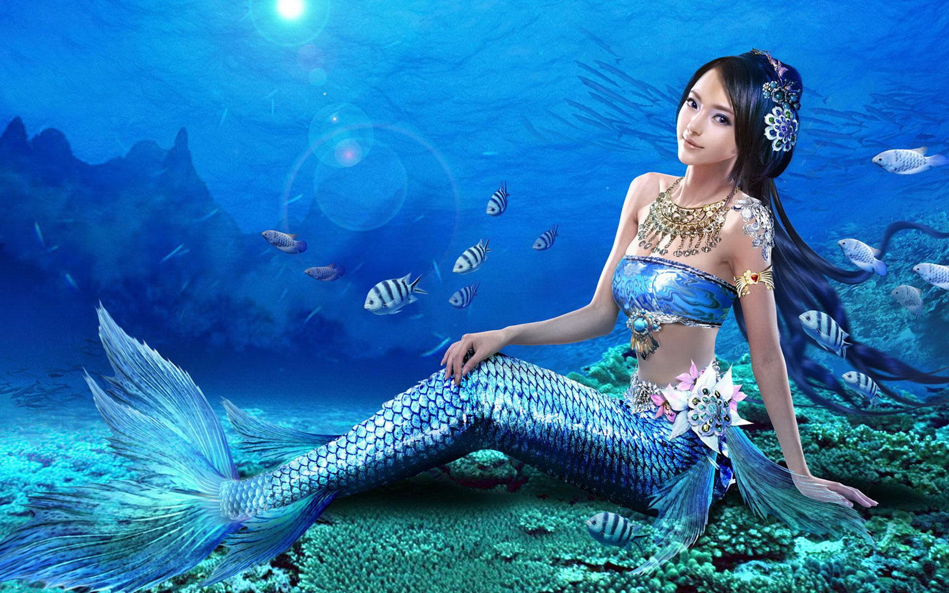 Картинки русалок и подводного мира