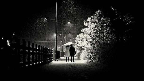 Две тени на снегу