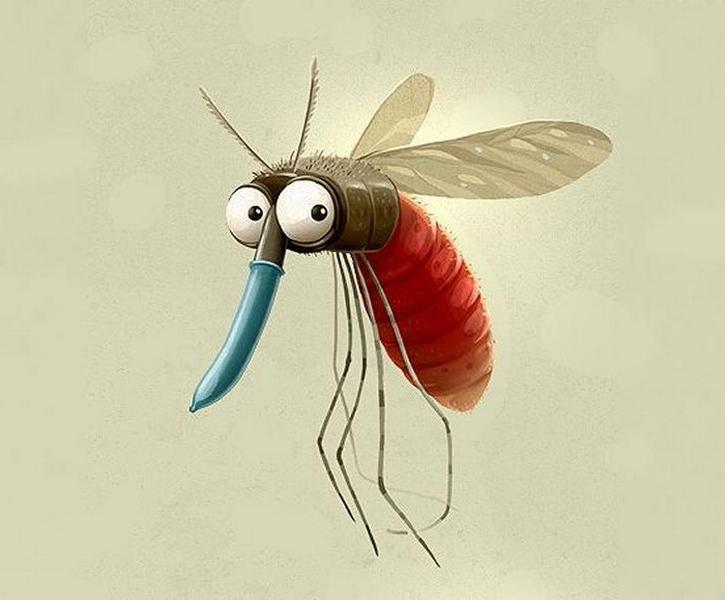 Лучшей, картинка смешной комарик
