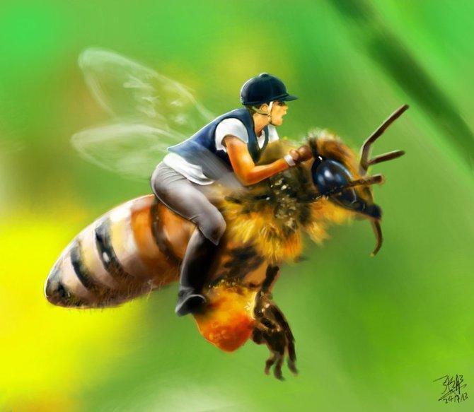 Картинки пчела и пчеловод прикольные, 30-летием работы вознесение