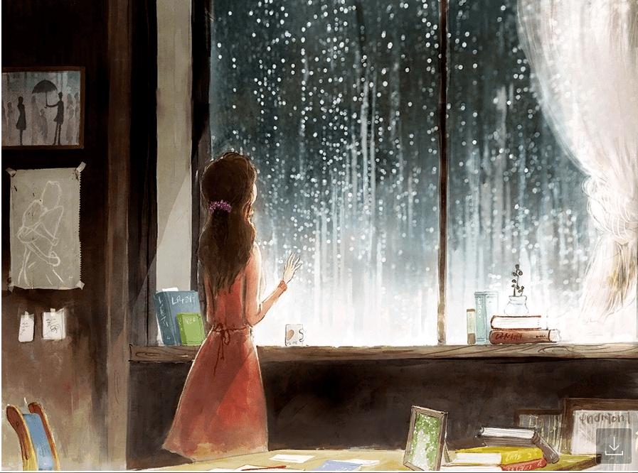 рисунок дождь за окном важно наличие