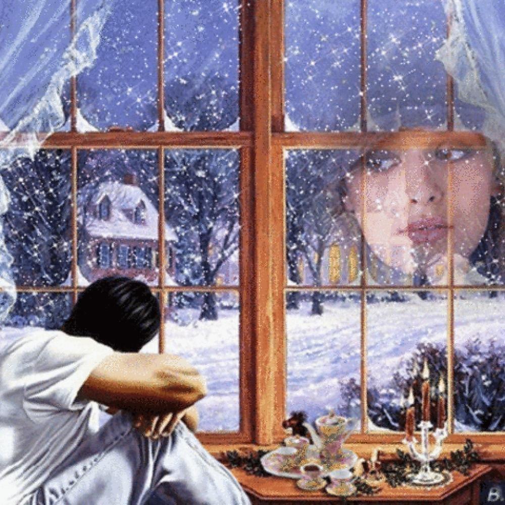 за окном моим снежинки будут рисовать картинки