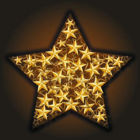 Золотые звёздочки. Посвящаю Ларочке-поэтессе с любовью