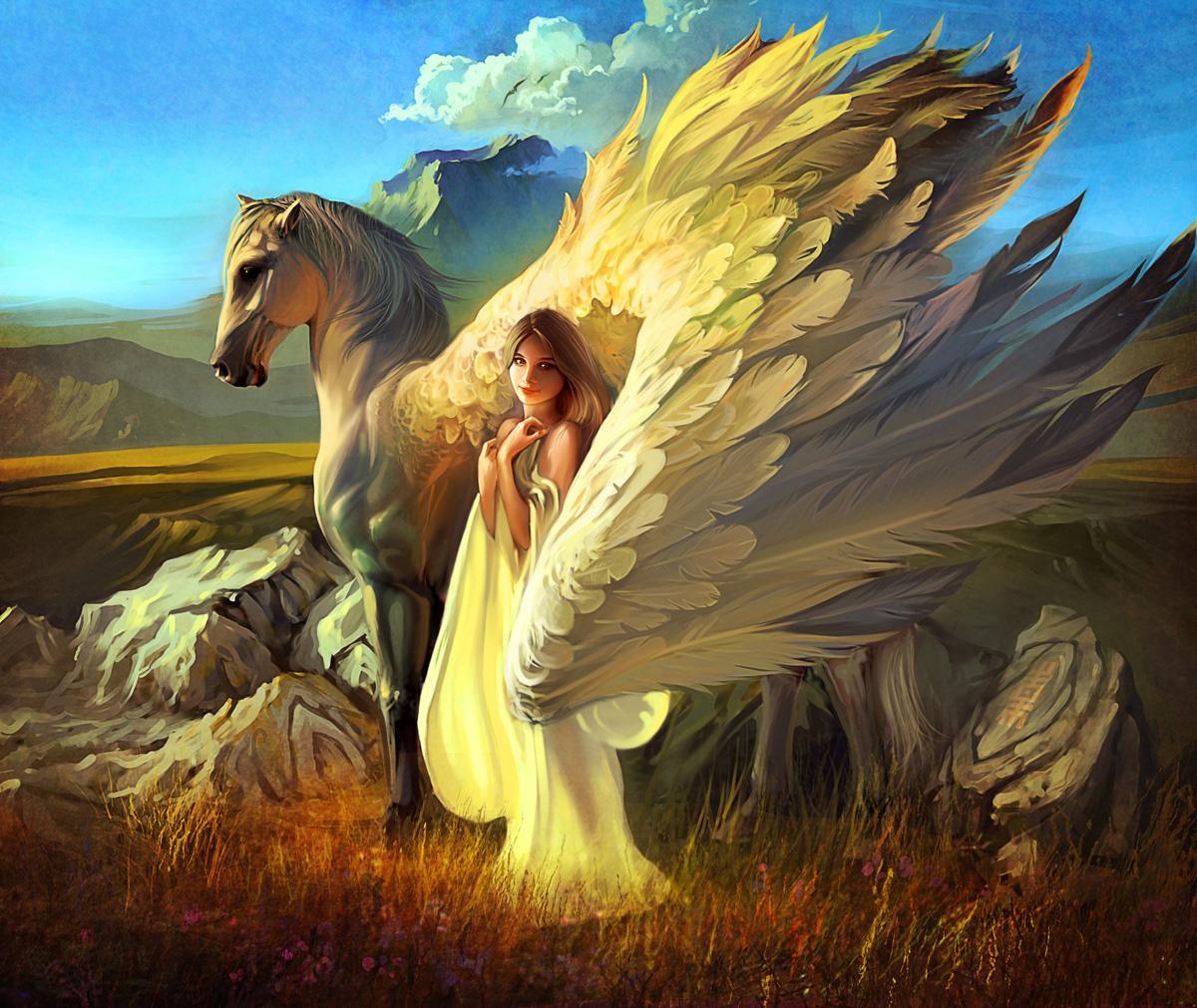 Ангел на коне картинки