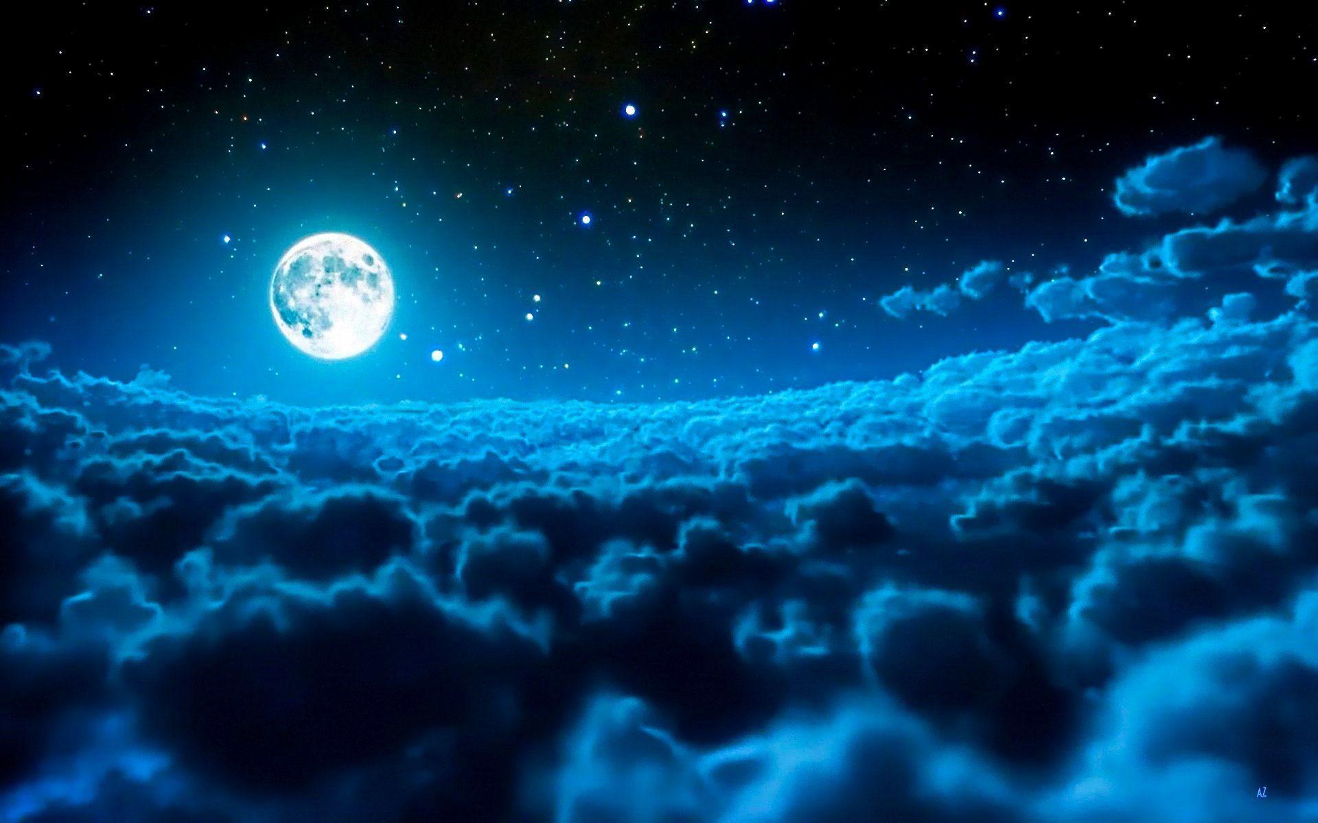 moon and stars - 1200×750