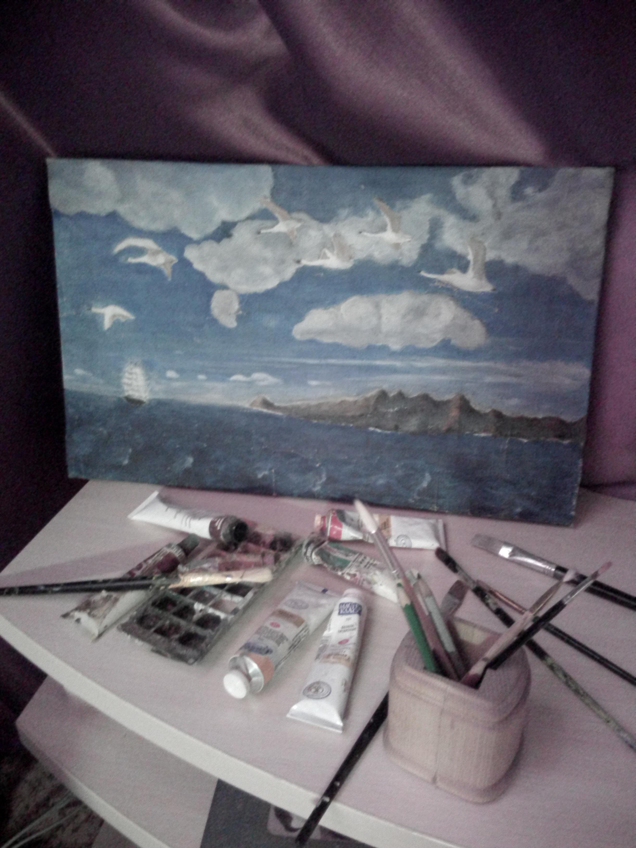Художник и краски