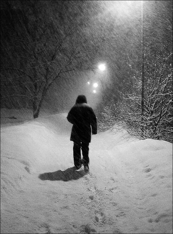 Зима одного прохожего