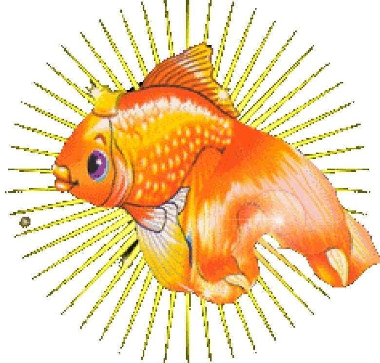 Картинки анимации золотые рыбки