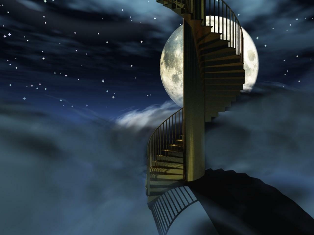 лестница в небо картинка для рабочего стола одна половина вас