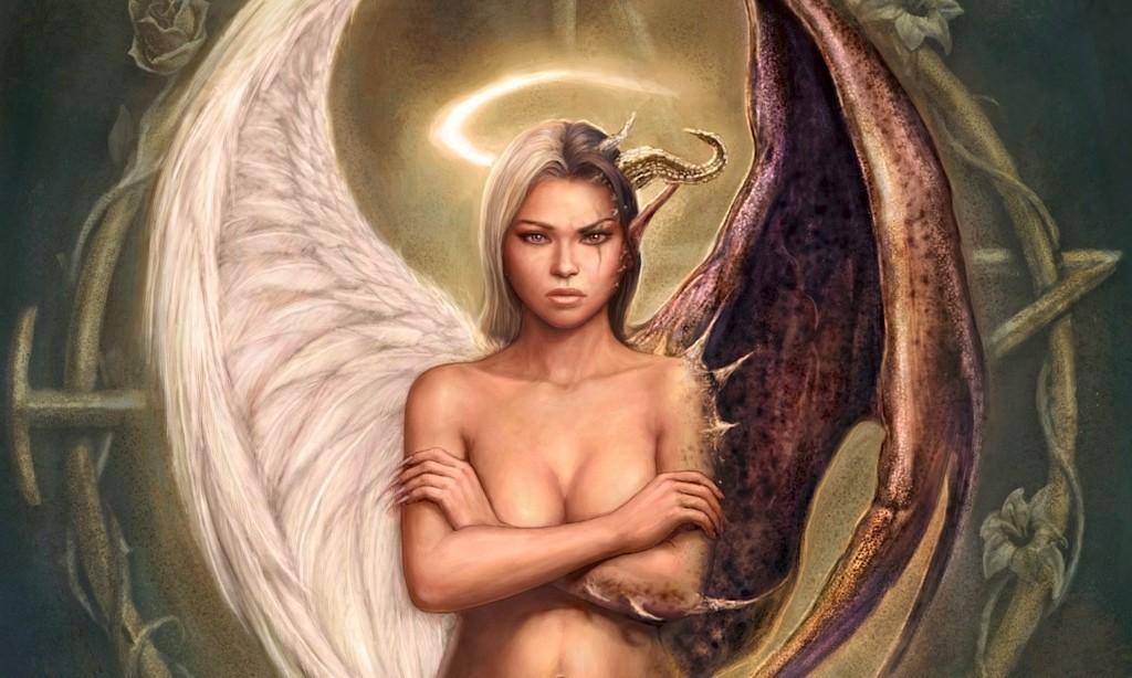 Картинки с демоном и ангелом