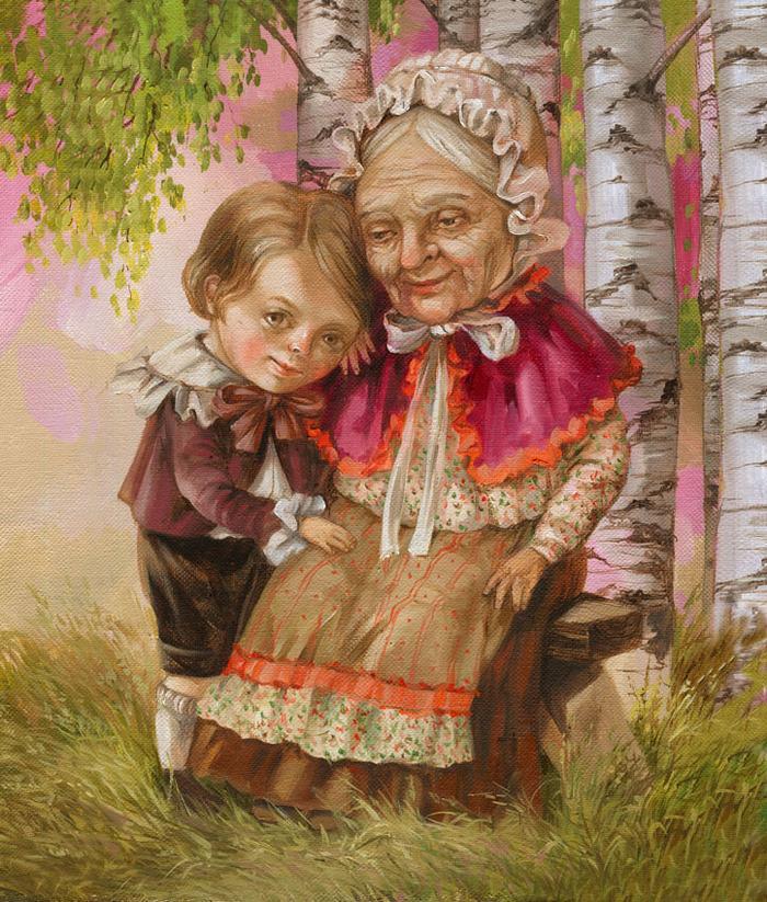 Для, прикольные картинки бабушка и внучка