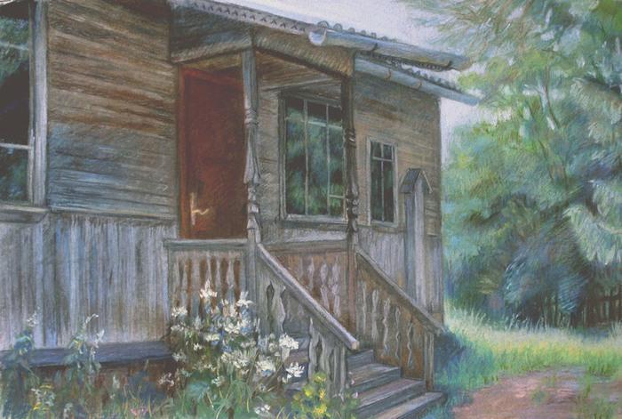 что деревенский дом с крыльцом картинки тебе