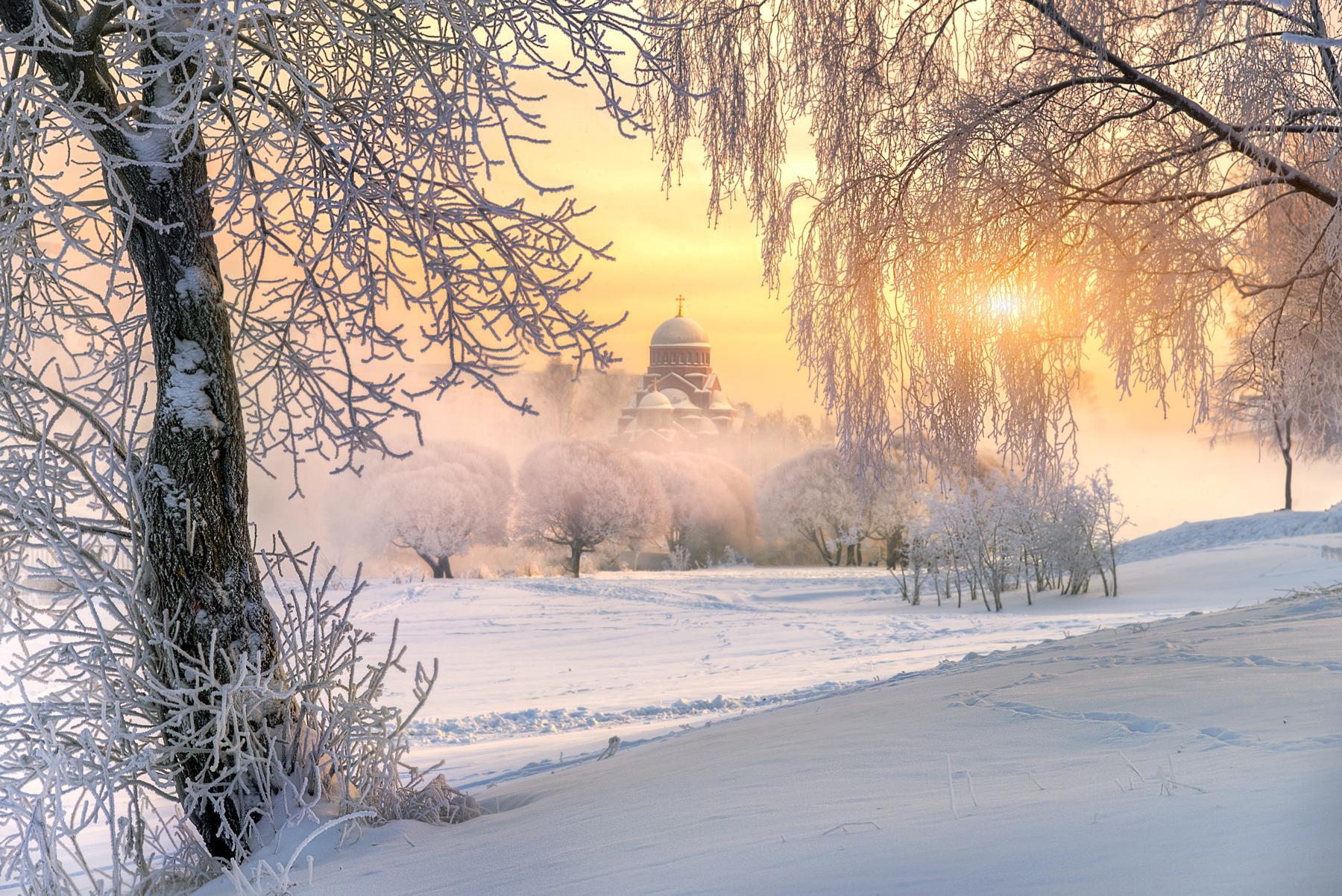 тебе картинки с добрым утром зимний пейзаж самая известная