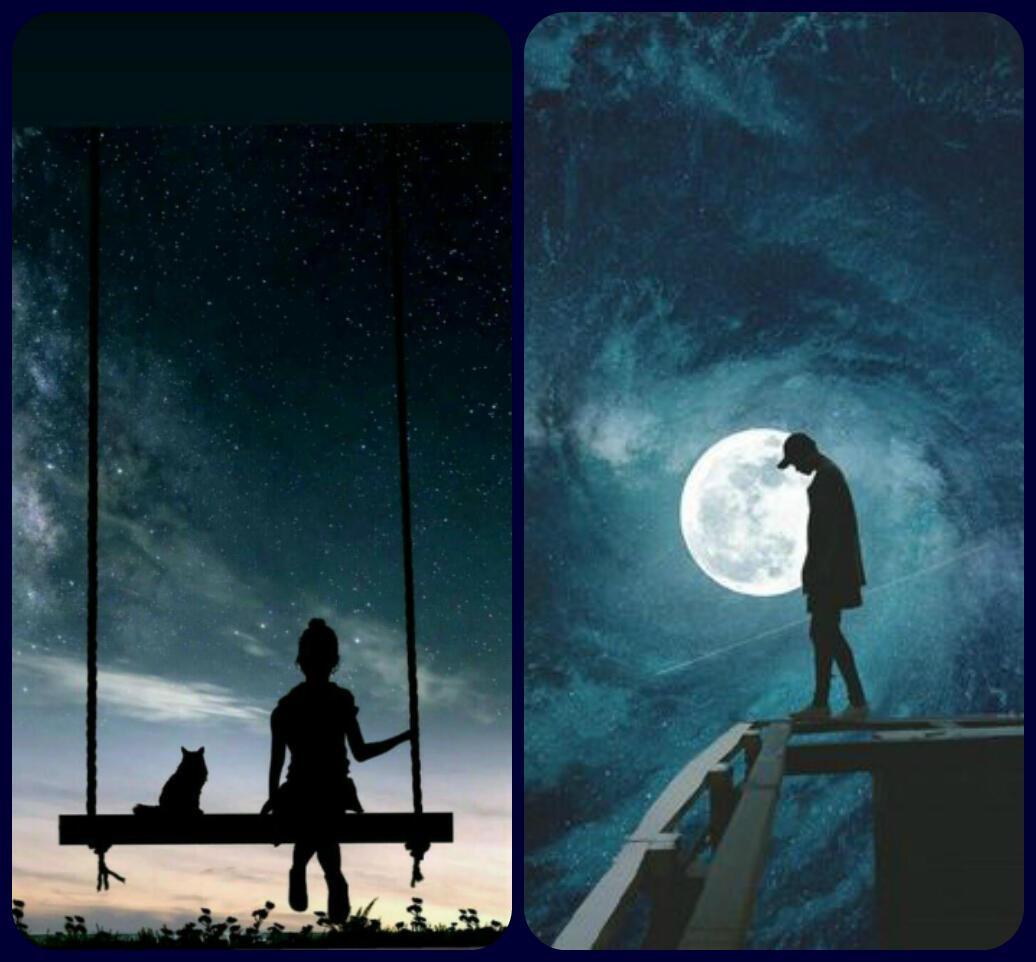 Ночь, небесные качели,