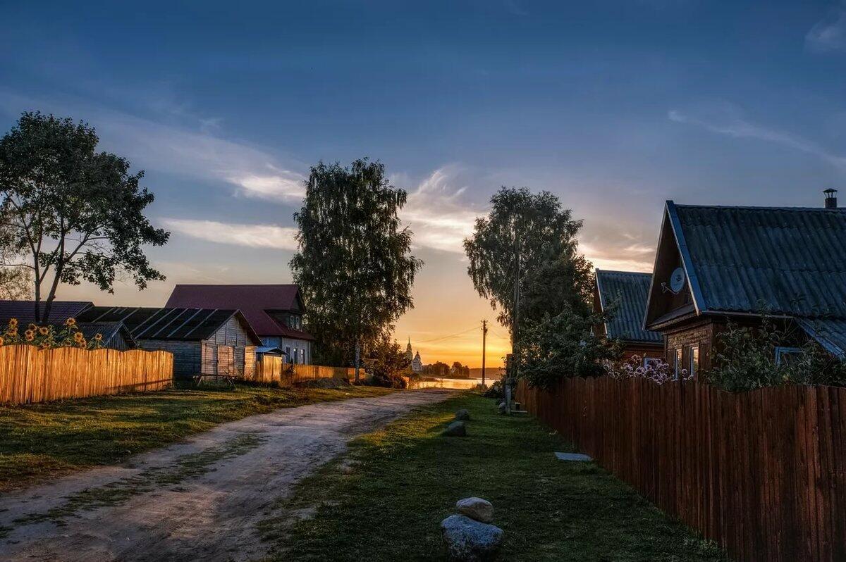 картинки лето вечер деревня здорово аутентично будет