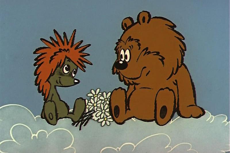 Питера, ежик и медвежонок открытки