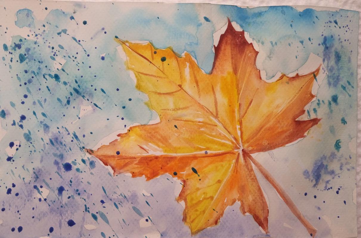 картинка к стиху листья подумал, что это