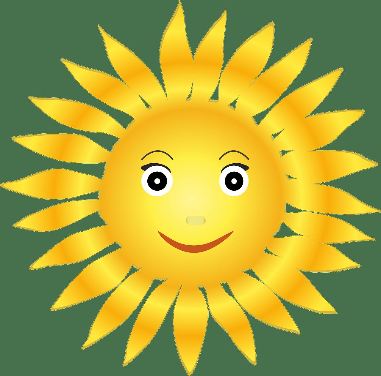 Картинки солнышка для детей нарисованные